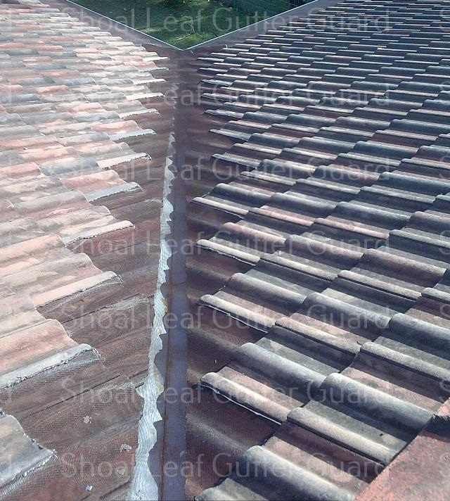 Leaf Guard to brown tile valley - Gutter guard Berry &  Leaf guard Berry
